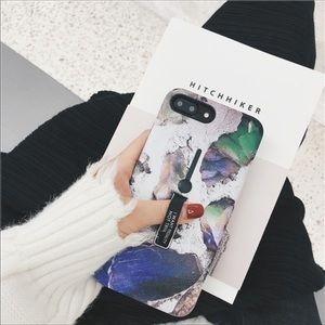 📲iPhone X & 7/8 PLUS multicolor Marble phone case